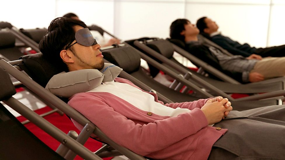 Some companies in Japan have rolled out designated nap rooms for overtired workers (Credit: GMO Internet Group)