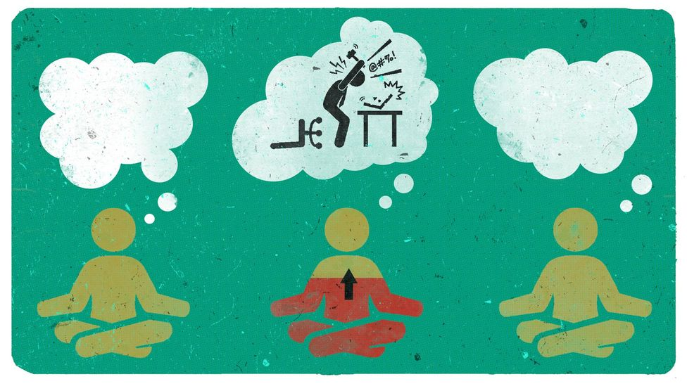 The technique of mindfulness meditation may invite rumination and repetitive negative thoughts in some individuals but not in others (Credit: Emmanuel Lafont)