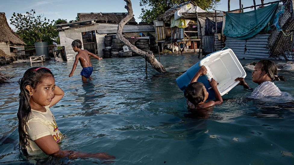 With an average age of 22, Kiribati's future generations will suffer most from the rising sea levels (Credit: Getty Images)