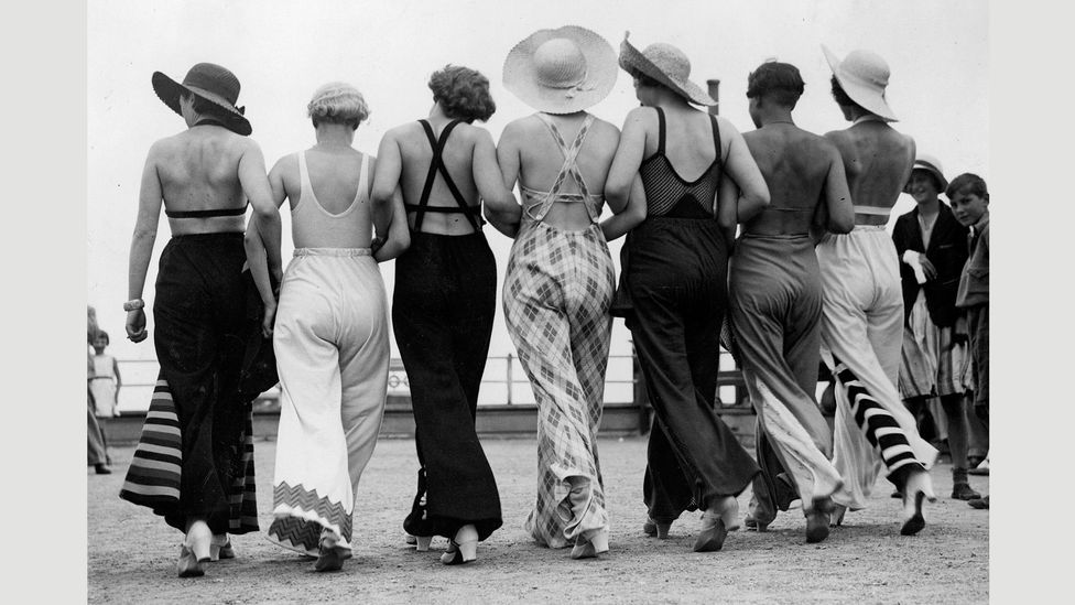 In the 1930s beach pyjamas became a trend (Credit: Getty Images)