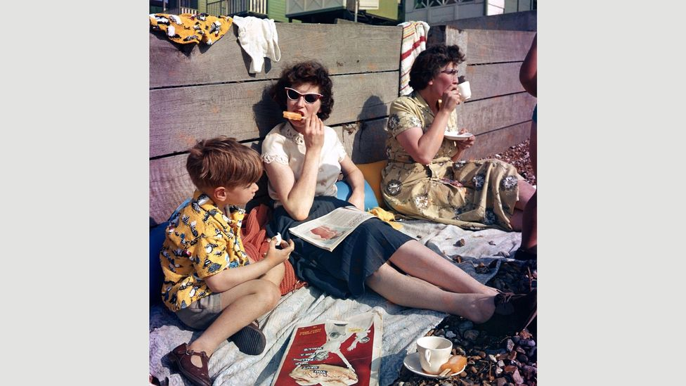 Down to the Beach, 1959, is among the photographs displayed at the Turner Contemporary exhibition (Credit: Raymond C Lawson/ Turner Contemporary)