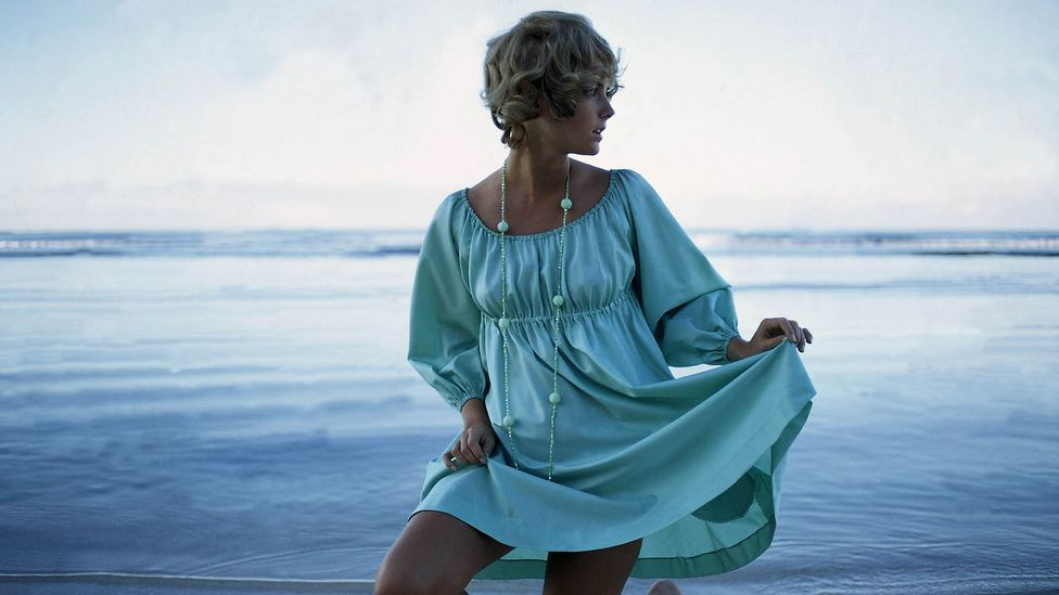 The smock, shown here in Glamour magazine, 1968, has become a chic beachwear staple (Getty Images)