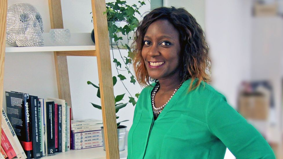 Namuli Katumba was 34 when she left her position as a manager at a big IT firm, and started her minternship at a PR agency in London (Credit: Namuli Katumba)