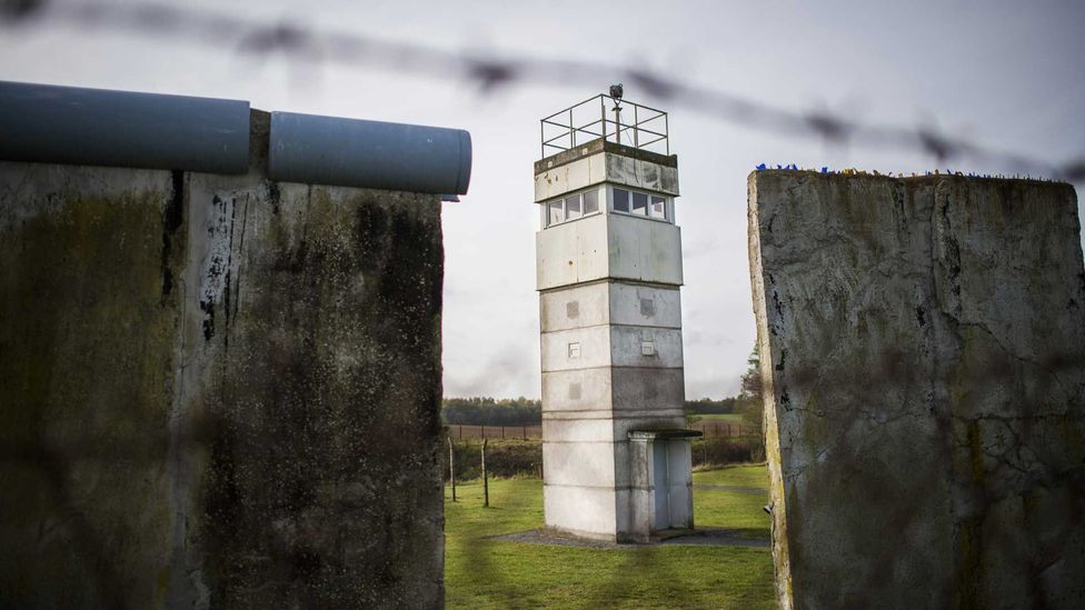 An old German Democratic Republic (GDR) border watch tower outside the northern German village of Schlagsdorf (Credit: Getty Images)