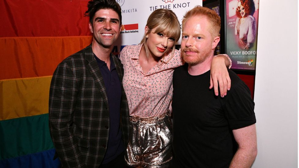 As part of her very visible recent alliance with the LGBT community, Swift performed at the Stonewall Inn during Pride month (Credit: Getty Images)