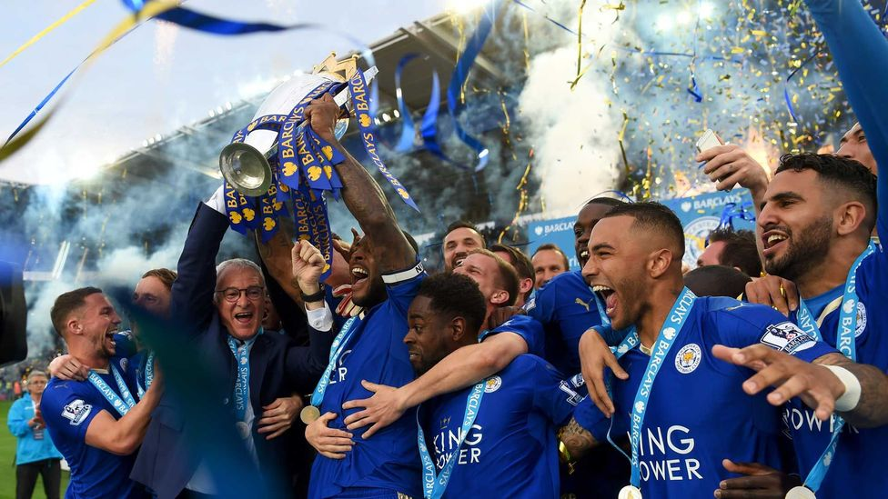 Leicester City started the 2015/16 Premier League season as 5,000/1 outsiders to win the title – few would have predicted their remarkable success (Credit: Getty Images)