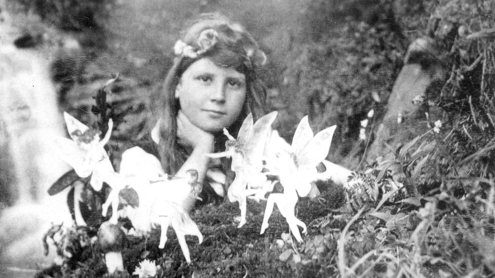 "A photo of the ""Cottingley fairies"" that famously tricked Arthur Conan Doyle (Credit: Alamy)"