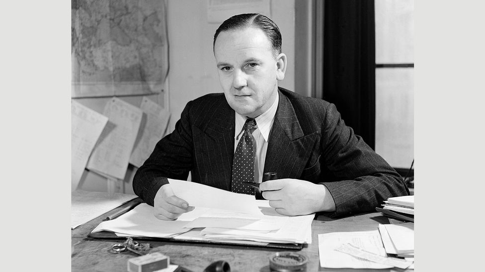 The BBC's Director of European Broadcasts, Noel Newsome, expressed doubts about the virtues of using satire against the Germans (Credit: BBC)