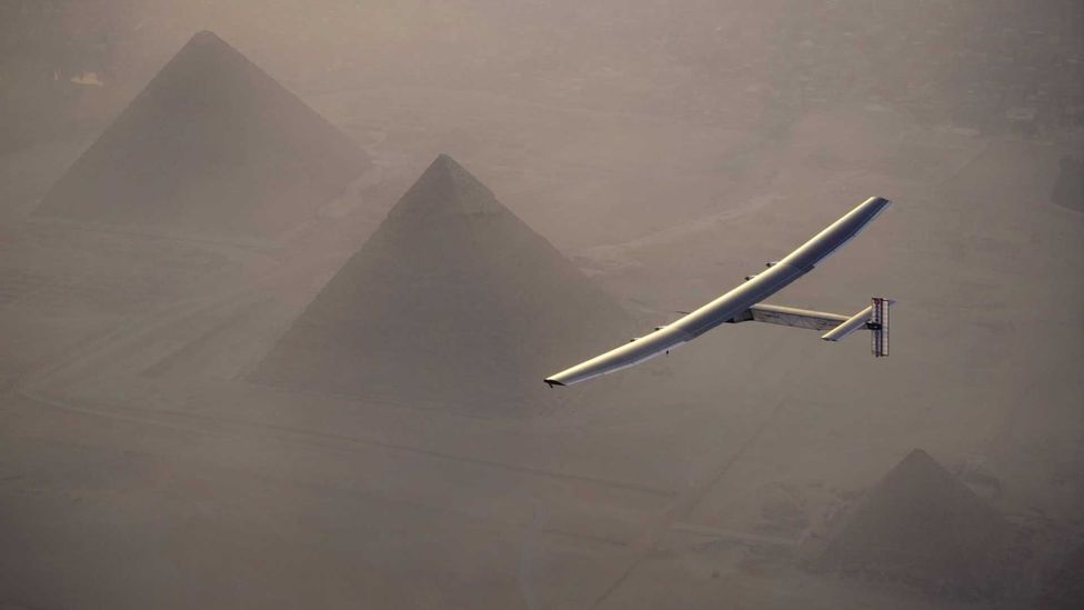 For the most part, solar-powered transport, like Solar Impulse, is a novelty (Credit: Getty Images)
