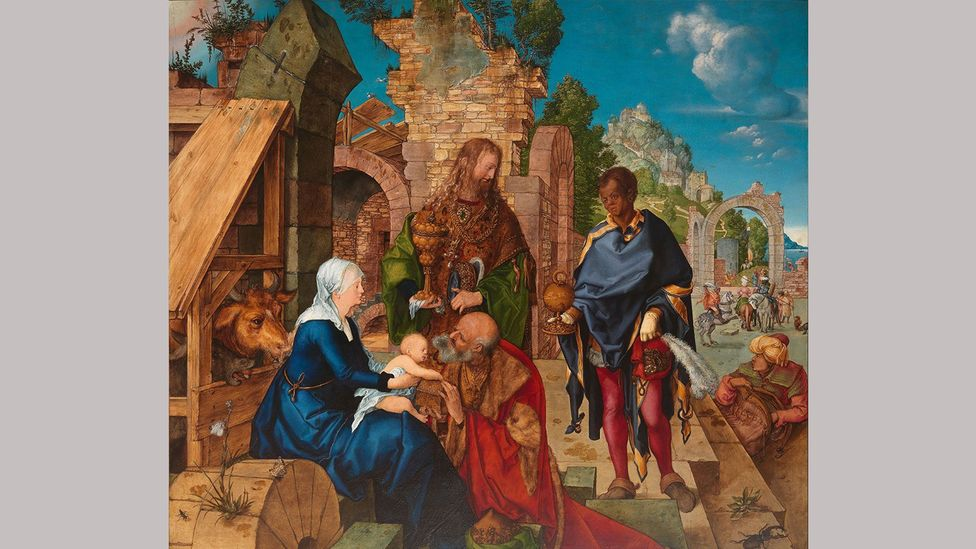 The Adoration of the Magi – Albrecht Dürer (1504); his reputation as an artist grew following the establishment of his own workshop in Nuremberg