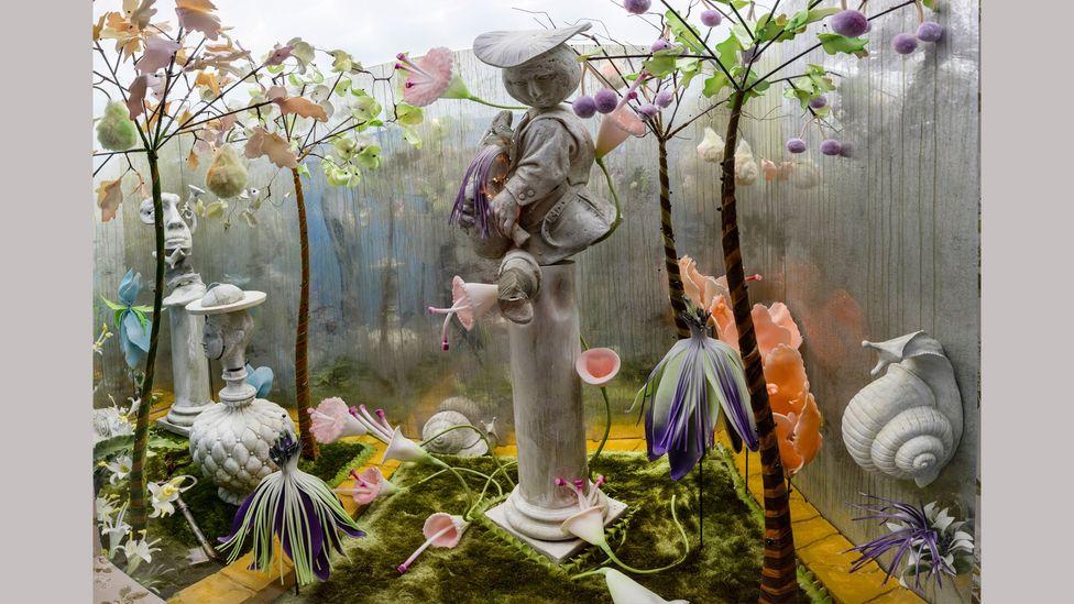 Scénographie de la directrice artistique Shona Heath d'un jardin secret pour Box of Delights (Crédit: Victoria and Albert Museum, Londres)