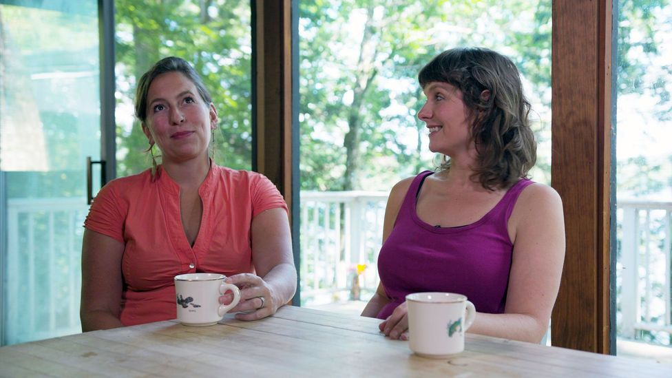 Meghan Kallman, left, and Josephine Ferorelli, right, are the co-founders of Conceivable Future, a place where climate conscious parents-to-be can connect (Credit: Maya Lilly)