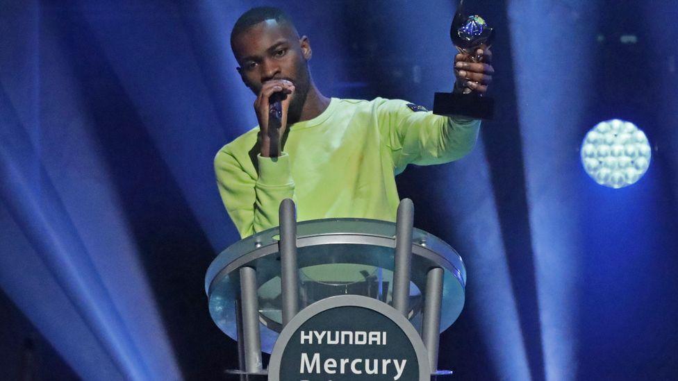 Dave winning the 2019 Hyundai Mercury Prize