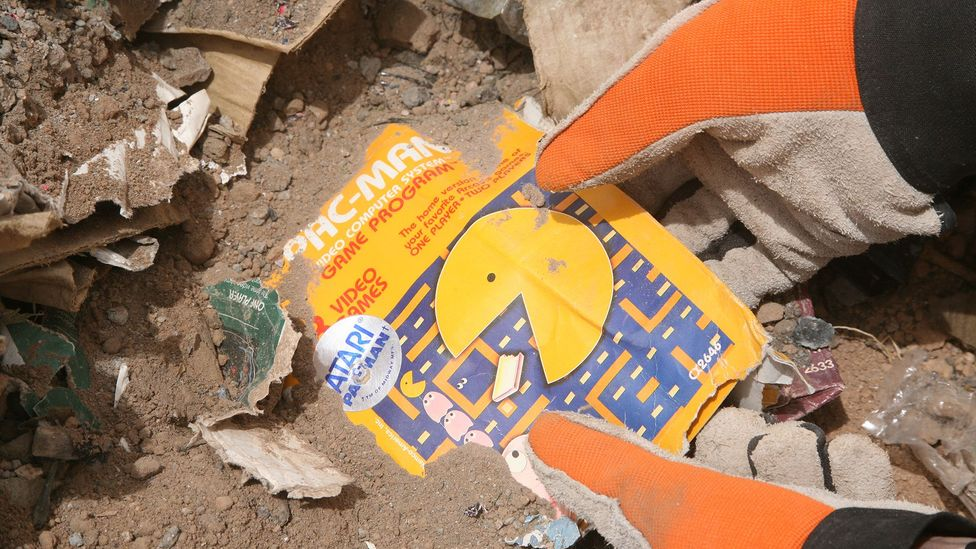 In 1983 Atari buried hundreds of thousands of games cartridges near to Alamogordo in New Mexico and they were unearthed in an excavation 30 years later (Credit: Andrew Reinhard)