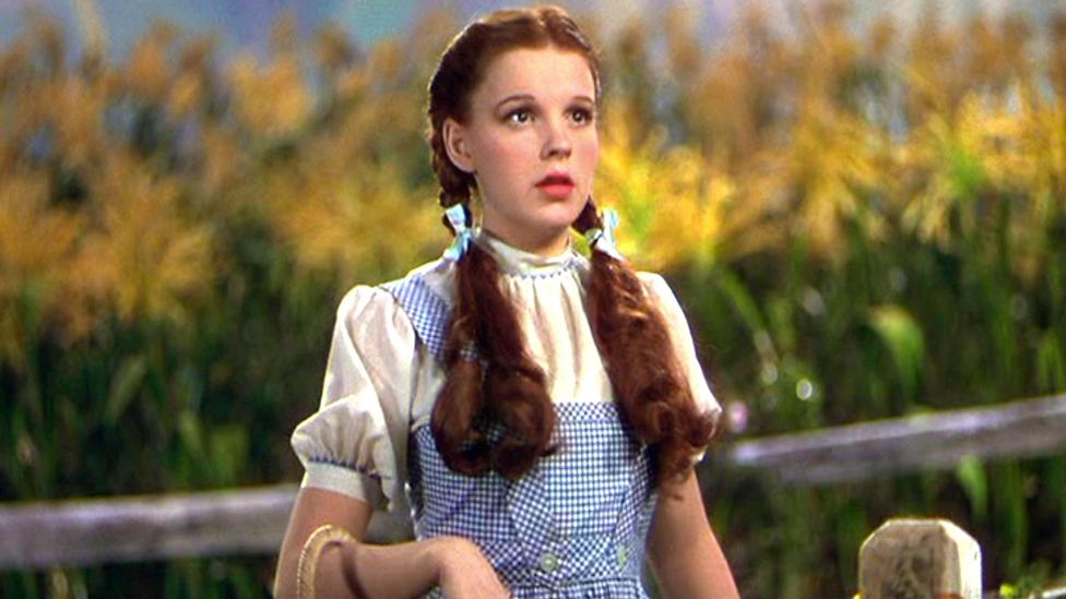 Garland's coming-of-age mirrored the story of Dorothy in the Wizard of Oz – both were ordinary girls swept into a world of Technicolor and magic (Credit: Alamy)
