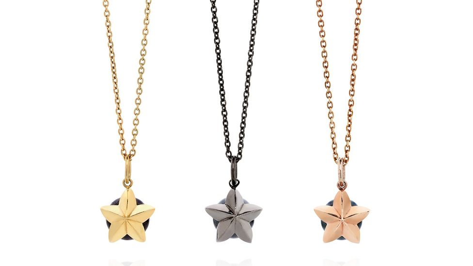 Pendants, such as these by Donocik, are increasingly popular with men (Credit: Goldsmiths' Fair)