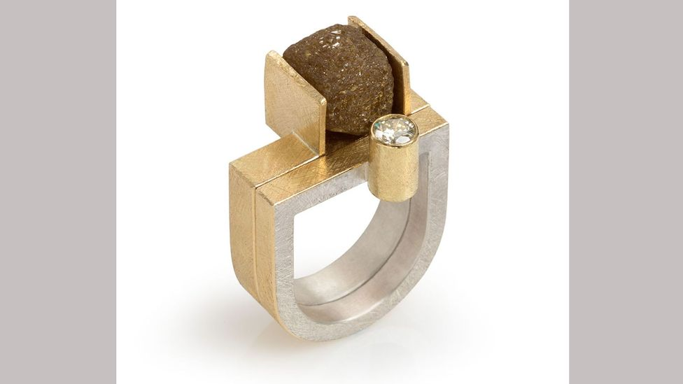 London designer Koppmann often uses rough diamonds in his work, which draws on the geometry of modernist buildings (Credit: Goldsmiths' Fair)