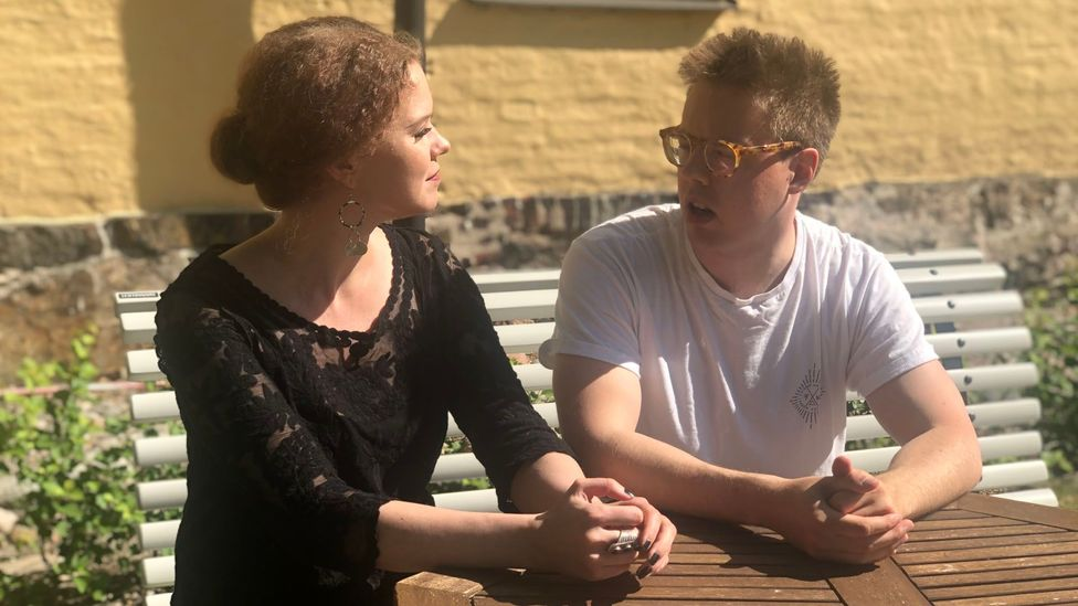 Despite mental health stereotypes being broken down, young adults like Kirsi-Maria and Jonne still feel the heavy presence of taboos surrounding depression (Credit: Maddy Savage)