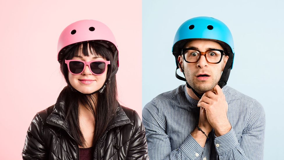Gender stereotypes say that men should prefer blue and women should prefer pink, but there is no biological reason for this to be the case (Credit: Getty Images)