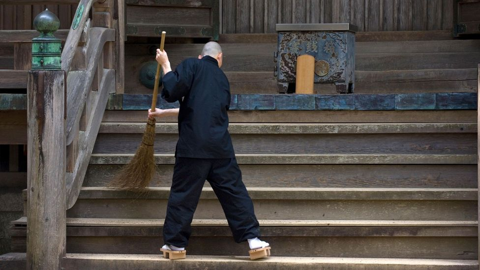 In Zen Buddhism, daily tasks like cleaning and cooking are considered spiritual exercises (Credit: Photo Japan/Alamy)