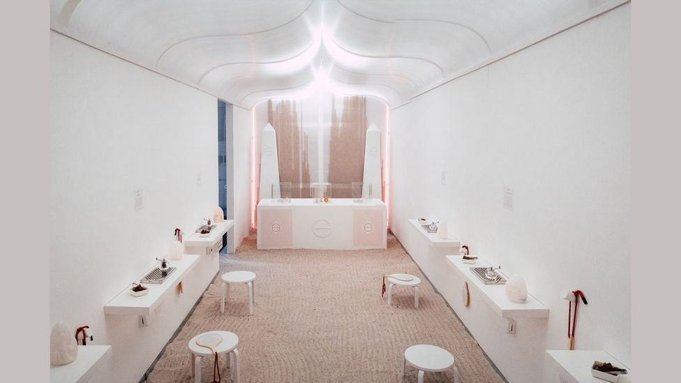 The room dedicated to salt is based on 'halotherapy' (Credit: Oliver Holms)