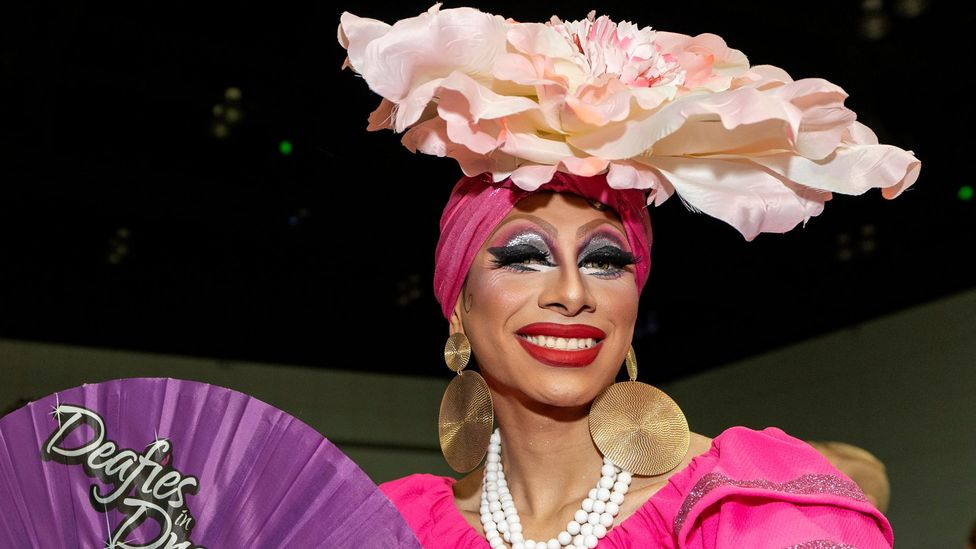 An attendee at this year's Ru Paul's DragCon in Los Angeles – one of the Drag Race spin-off conventions that are now big business (Credit: Alamy)