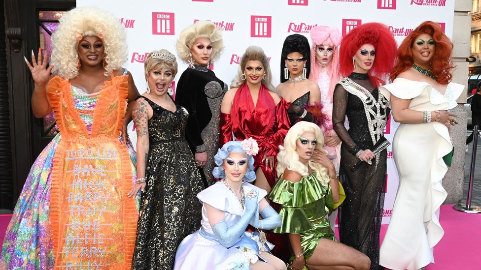 This week sees the launch of Drag Race UK, with a line-up of 10 queens competing to be Britain's next drag superstar (Credit: BBC)