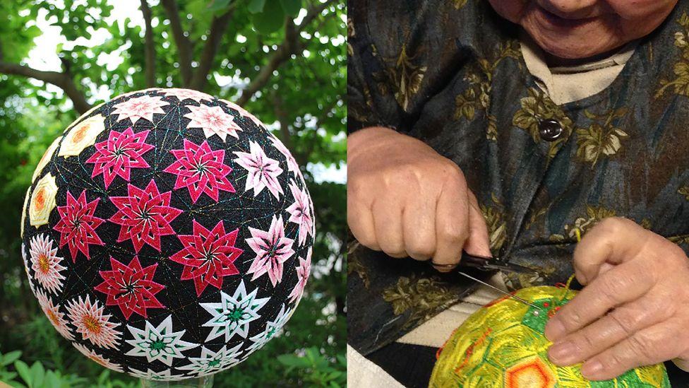 Temari balls require a high degree of precision to make (credit: NanaAkua)