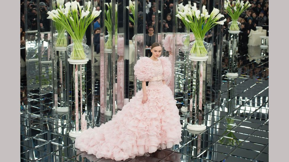 Lily-Rose Depp in Chanel haute couture during the spring/summer 2017 show in Paris (Credit: Getty Images)
