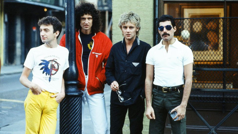 Queen (here pictured in 1981) allowed Mecury to express his natural campness, while their name can be seen as a winking allusion to his identity (Credit: Alamy)