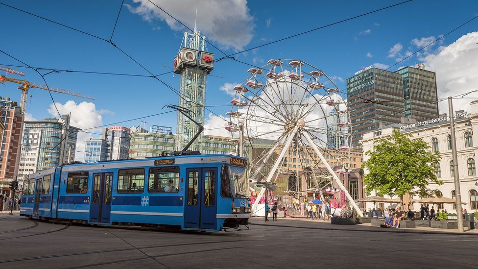 The Norwegian capital Oslo is making a concerted effort to remove cars from central streets (Credit: Getty Images)