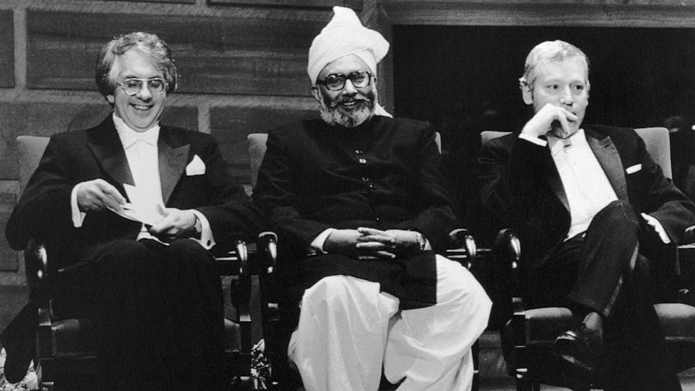 Salam was the first Pakistani to win a Nobel Prize – here he is pictured at the ceremony in Stockholm (Credit: Getty Images)