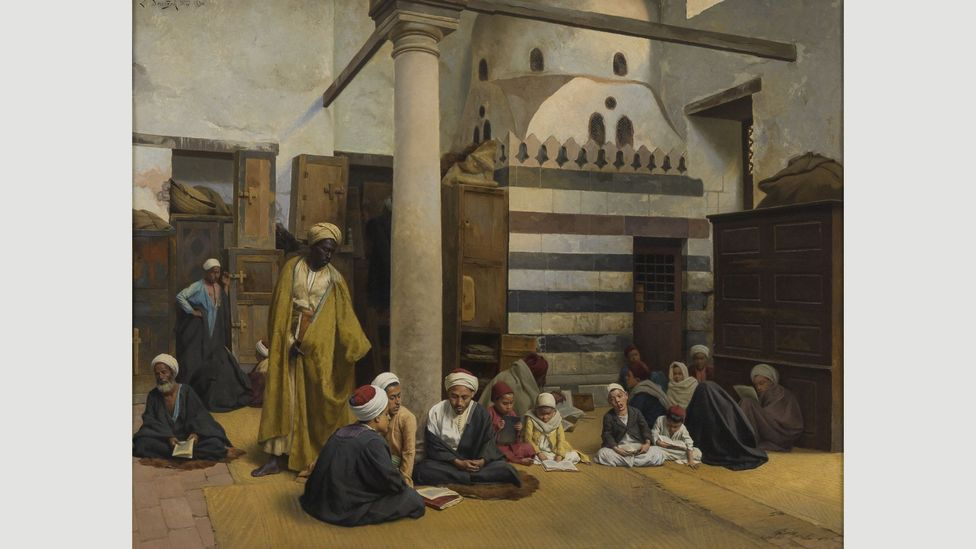 Ludwig Deutsch's In the Madrasa is a typical artwork from the Orientalist movement, which reached its peak in the 19th Century (Credit: Islamic Arts Museum Malaysia)