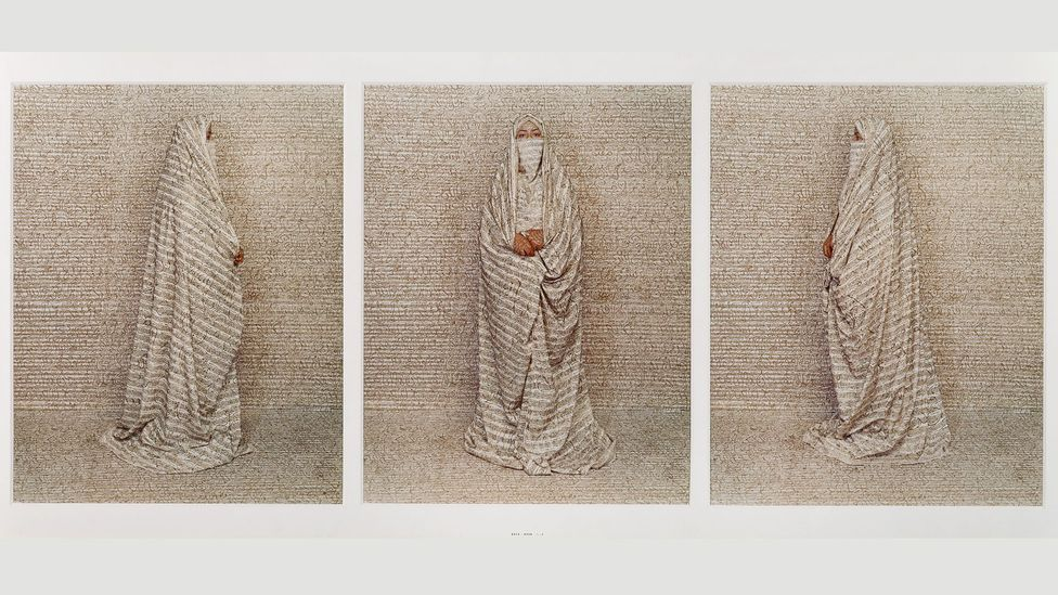 Contemporary artists have made work that responds directly to the Orientalists – such as Lalla Essaydi's Les Femmes du Maroc (Credit: British Museum)
