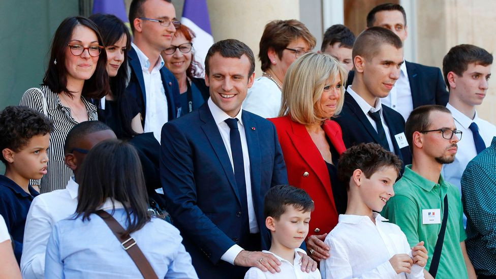 French president Emmanuel Macron at an event in 2017 in Paris that spotlighted the need for greater autism awareness (Credit: Getty Images)