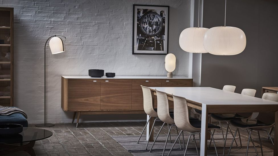 The Lamella lamps for Danish company Le Klint blend new and old inspirations (Credit: Le Klint)