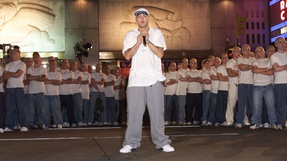 Eminem's attention-grabbing VMA show in 2000: Young Thug is this generation's equivalent (Credit: Getty Images)