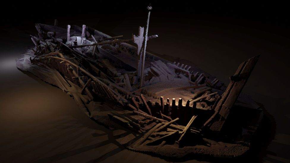 Recent oceanographic research efforts in the Black Sea have revealed shipwrecks from several millennia of seafaring trade and war (Credit: Model - Rodrigo Pacheco Ruiz)