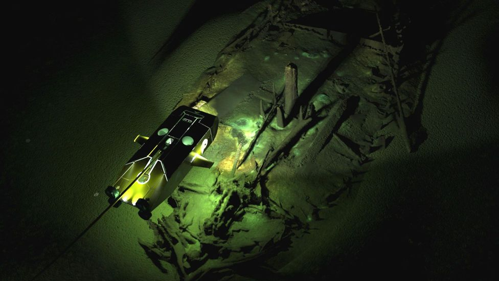 Using remote operated vehicles (ROVs), archaeologists have revealed pieces of ancient history never before seen in such vivid resolution (Credit: Model - Rodrigo Pacheco-Ruiz)