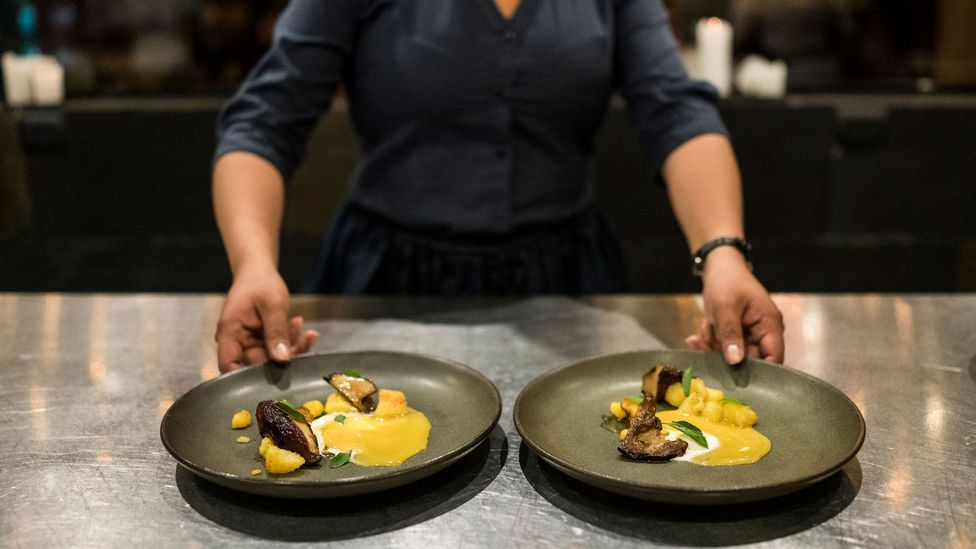 Gustu restaurant in La Paz only uses Bolivian produce in its avant-garde cuisine (Credit: Benjamin Lowy/Getty Images)