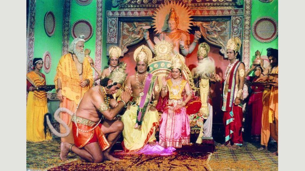 Alongside the Mahābhārata, the Ramayana is one of the two major Sanskrit epics of ancient India (Credit: Ramanand Sagar Productions)