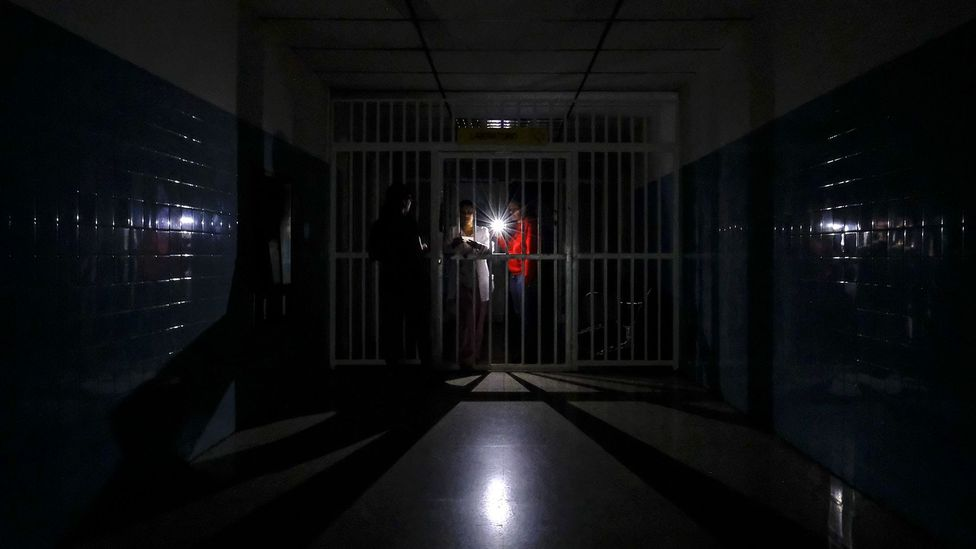 Hospitals over Venezuela lost power during a five-day nationwide black out this year (Credit: Getty Images)