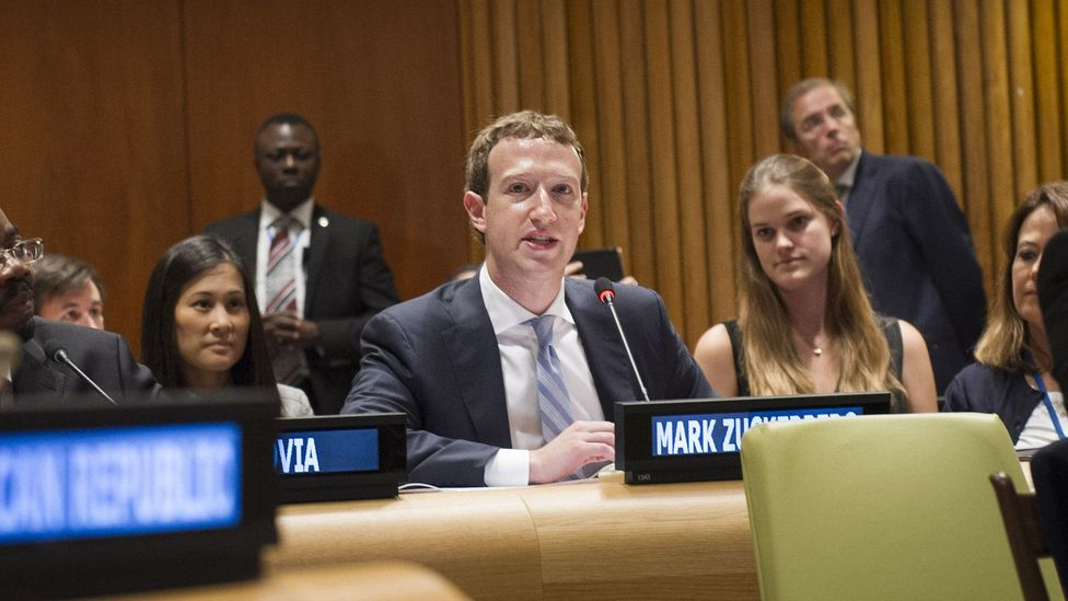 """Facebook founder Mark Zuckerberg has appeared before the UN to state that the internet """"belongs to everyone"""" (Credit: Getty Images)"""