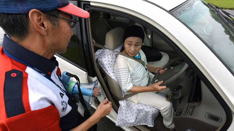 As elderly drivers cause an increasing number of accidents on Japan's roads, driving schools for the aged have sprung up to retrain drivers (Credit: Getty Images)