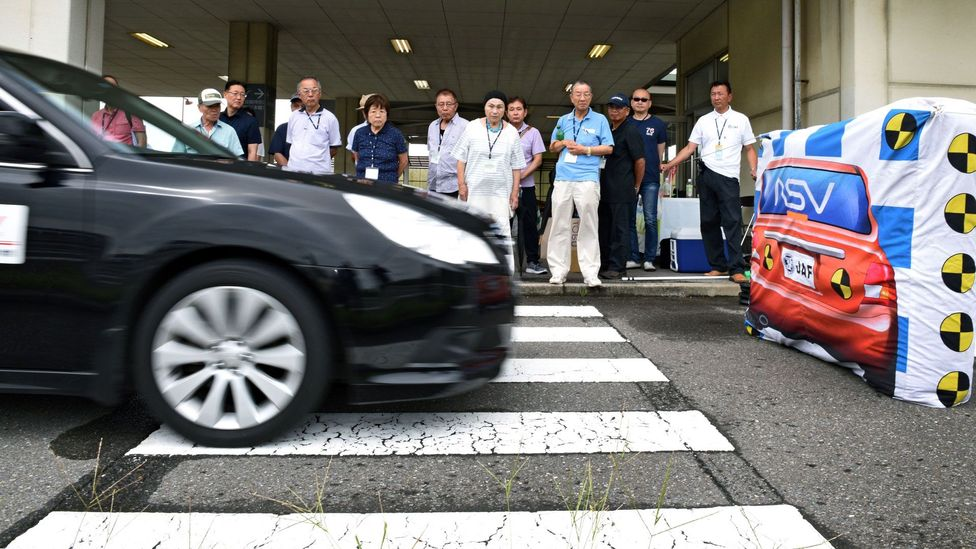 Car manufacturers have developed technology to assist ageing drivers, such as automatic stop system systems, to help reduce a growing number of crashes (Credit: Getty Images)