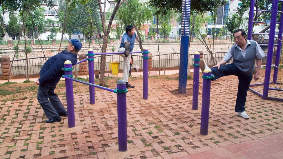 As China embraces a Westernised lifestyle the country will need more senior parks to help out elders (Credit: Alamy)