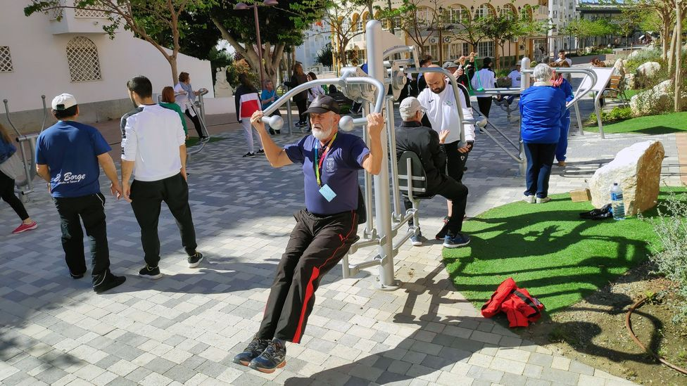 Since 2007 more than 400 senior parks have been established in the province of Malaga, southern Spain (Credit: Servicio de Deportes de Diputación de Málaga)