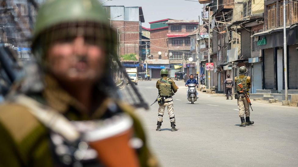In the early hours of 5 August, the Indian government imposed a total communications blackout on Kashmir (credit: Getty Images)