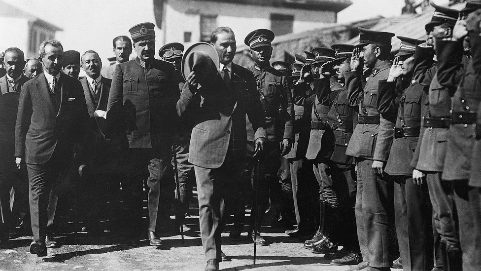 Mustafa Kemal Ataturk, shown here in 1926, led reforms that included welcoming nearly 200 German scholars to Turkey – including Geiringer (Credit: Getty Images)