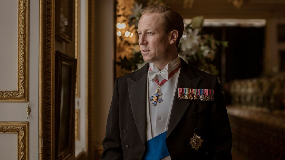 Tobias Menzies gives the most virtuosically studied performance as Prince Philip – capturing the faintly sinister sibilance of his voice (Credit: Netflix)